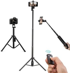 Kwithan Deal Selfie Stick Tripod, Extendable 54 Inch Bluetooth Phone Tripod for Cellphone, Gopro, Attached Wireless Remote Compatible with iPhone /Galaxy /Huawei/Google/Xiaomi