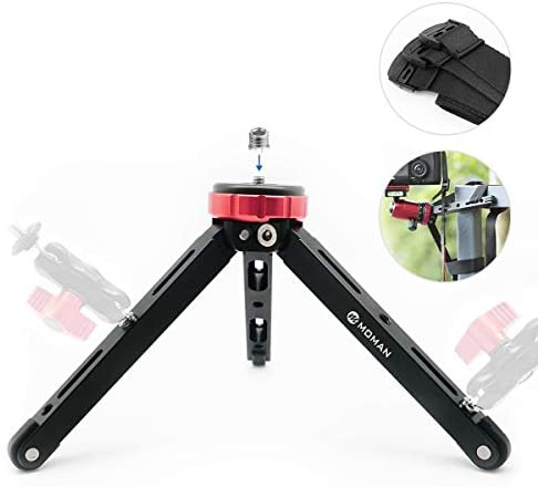 Tabletop Tripod for DSLR Camera, with 1/4 and 3/8 Screw Mount and Function Leg Design, Max Payload of 176 Lb CNC Aluminum, Moman Minipod for Zhiyun Smooth 4, DJI Osmo 2 Mobile