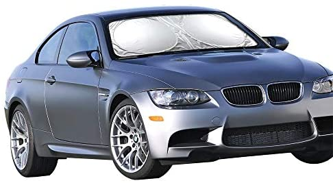 Car Windshield Sun Shade – Blocks UV Rays Sun Visor Protector, Sunshade To Keep Your Vehicle Cool And Damage Free, Easy To Use, Fits Windshields of Various Sizes