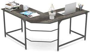 Elephance 59″ Large L Shaped Desk Corner Computer Desk Gaming Table Workstation for Home Office