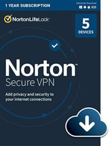 Norton Secure VPN for up to 5 Devices (Download)