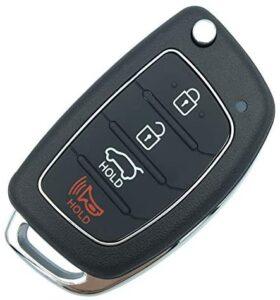 Replacement Uncut Key Remote Fob Case 4 Buttons fit for Hyundai Sonata Santa Fe Flip Key Remote Control Key Fob Shell