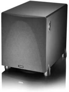 Definitive Technology ProSub 800 – High Output Compact 300W Powered Subwoofer | Heart-thumping sound for Home Theater System | (Single, Black)