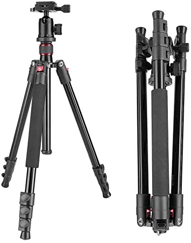 Neewer Alluminum Alloy 62″/158cm Camera Tripod with 360 Degree Ball Head, 1/4″ Quick Shoe Plate, Bag for DSLR Camera, Video Camcorder, Load up to 17.6lbs/8kg
