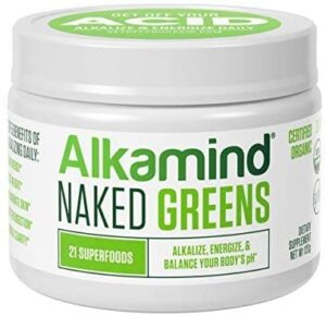 Alkamind Daily Greens – GET Off Your Acid with 21 Superfoods to Alkalize & Energize & Balance pH (Naked – Raw Dehydrated Greens)