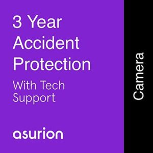 ASURION 3 Year Camera Accident Protection Plan with Tech Support $800-899.99