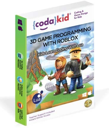 Roblox Coding, Award-Winning, Coding for Kids, Ages 8+ with Online Mentoring Assistance, Learn Computer Programming and Code for Fun Games with Lua and Video Game Programming Software (PC & Mac)