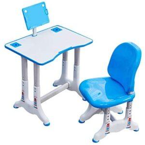N-G Children's Desk, Kids Desk and Chair Set, Height Adjustable Children Study Desk Chair Set Toddler Student Writing Drawing Desk Bookstand