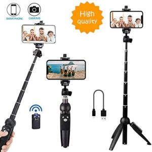 Bluehorn All in one Portable 40 Inch Aluminum Alloy Selfie Stick Phone Tripod with Wireless Remote Shutter for iPhone 12 11 pro Xs Max Xr X 8 7 6 Plus, Android Samsung Smartphone Vlogging Live Stream