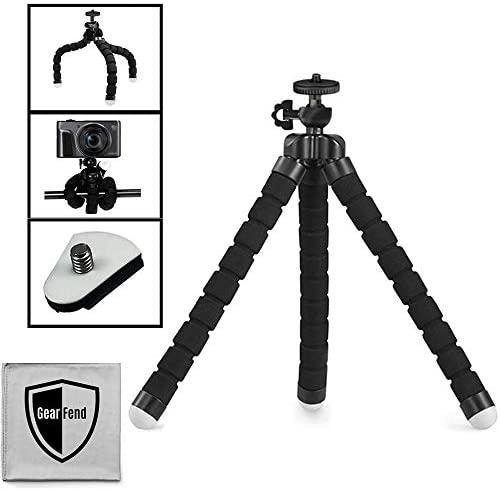 "GearFend 10"" inches Flexible Universal Tripod for Most Cameras Plus Microfiber Cloth"