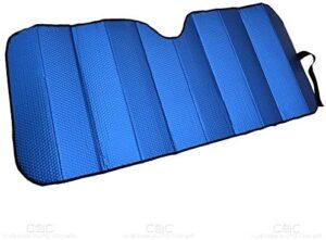 Motor Trend Front Windshield Sun Shade – Accordion Folding Auto Sunshade for Car Truck SUV – Blocks UV Rays Sun Visor Protector – Keeps Your Vehicle Cool – 58 x 24 Inch (Blue)