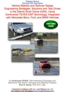 Vehicle Stability and Rollover Design Engineering Strategies, Solutions and Test Drives in the Detroit Silver Dome (USA), Using Continental TEVES ESP Technology, Integrated with Mercedes Benz, Ford, and BMW Vehicles