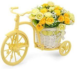 Louis Garden Nostalgic Bicycle Artificial Flower Decor Plant Stand (Orange)