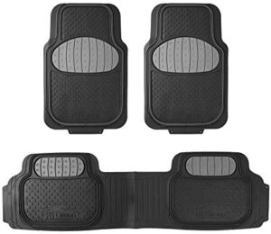 FH Group F11500GRAY Heavy Duty Touchdown Rubber Floor Mat ( Full Set Trim to Fit)
