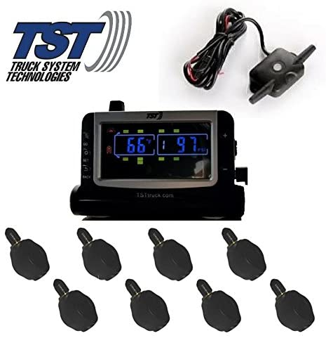 Truck Systems Technology TST 507 Tire Pressure Monitor w/ 8 Flow-Thru Sensors with Color Display