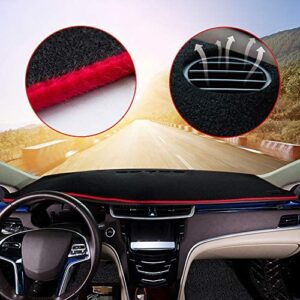 Custom Center Console Dashboard Cover Carpet Mat for Hyundai Elantra 2017-2020 Interior Dash Covers Accessories Red Line 1PCS