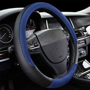 DC Microfiber Leather Auto Car Steering Wheel Cover Anti-slip Universal 15″/38cm (BLUE)