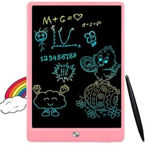 FLUESTON LCD Writing Tablet 10 Inch Drawing Pad, Colorful Screen Doodle and Scribbler Boards for Kids Learning, The Best Gifts for Kids Ages 2+