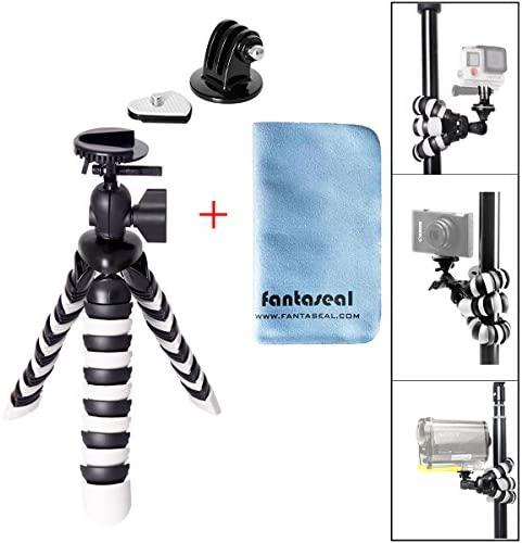 8″ Flexible Octopus Twining Action Camera Mini Tripod Motion Camcorder Stand Holder Sports DV Desk Selfie Youtube Vlog Video Mount for GoPro Hero 8 7 6 5 4 Session Sony Yi DJI Osmo Action Akaso Apeman