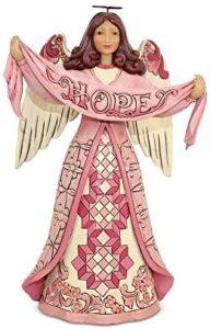 Jim Shore Heartwood Creek Enesco Pink Angel with Hope Banner
