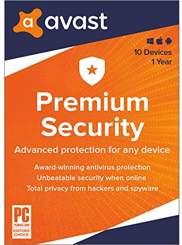 Avast Premium Security 2020 | Antivirus Protection Software | 10 Devices, 1 Year [PC/Mac/Mobile Download]