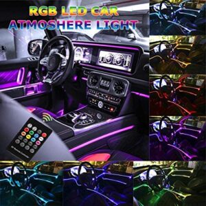 Car LED Strip Light, Multicolor RGB Music Sync Rhythm Car Interior Lights – 5 in 1 with 6 Meters/236.22 inches Fiber Optic, Ambient Lighting Kits, Sound Active Function and Wireless Remote Control