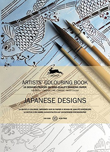 Japanese Designs: Artists' Colouring Book (Multilingual Edition)