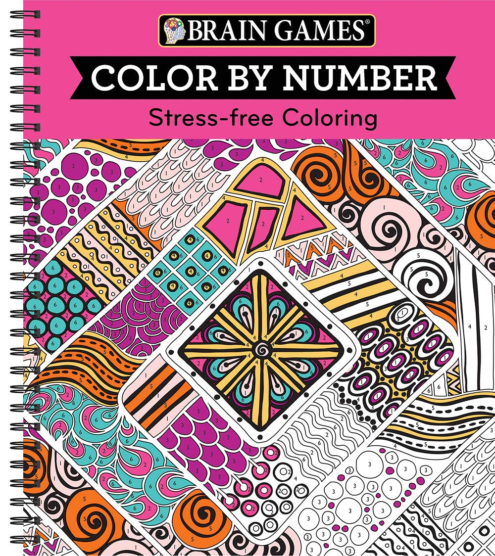 Brain Games – Color by Number: Stress-Free Coloring (Pink)