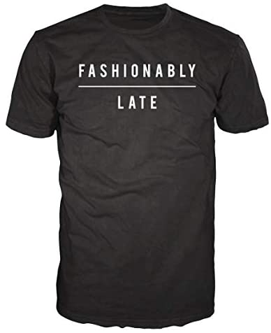 ACO-T Men's Fashionably Late Customized Short Sleeve T Shirt Tee