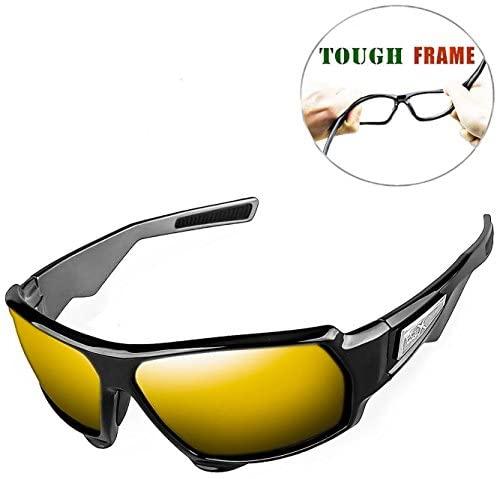 FLEX – Polarized Sunglasses for Men & Women, Tough Matte Black Frame w/HD Lens for Running Ski Cycling Baseball Golf Biking