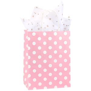 pink paper gift bags