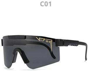 Original Pit Viper Sport Google Polarized Sunglasses for Men and Women Outdoor Windproof Eyewear Uv Mirrored Lens (C1)