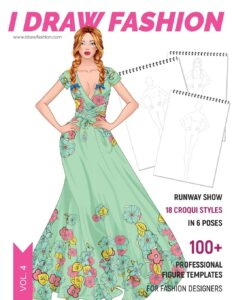 Runway Show: 100+ Professional Figure Templates for Fashion Designers: Fashion Sketchpad with 18 Croqui Styles in 6 Poses