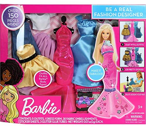 Tara Toys Barbie Be a Fashion Designer Doll Dress Up Kit – Multi