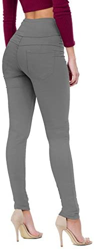 Women's Butt Lift V3 Super Comfy Stretch Denim Jeans P45078SKX Gun Metal 24