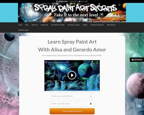 Spray Paint Art Secrets   Spray Paint Art Tutorials & Techniques