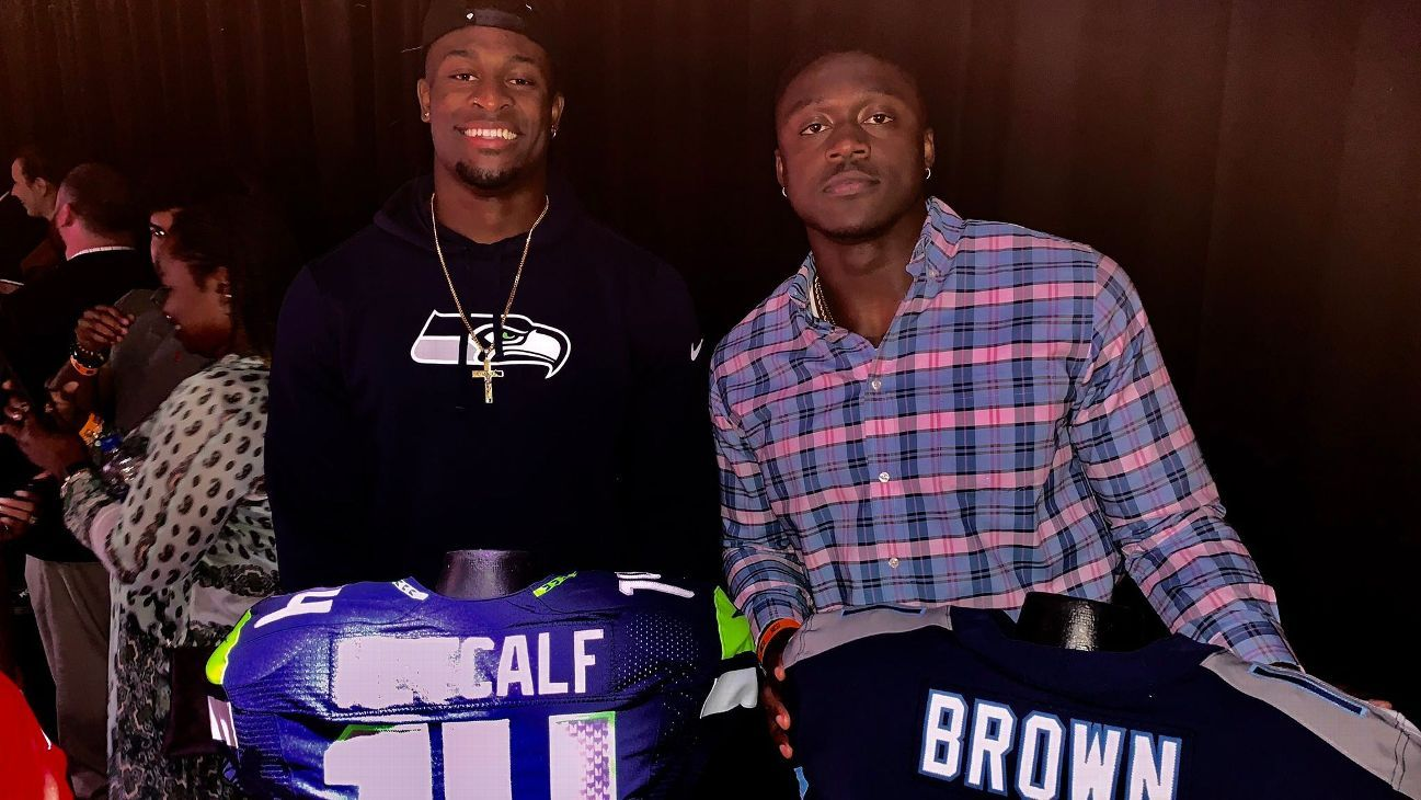 Former rivals, future stars – How Titans' A.J. Brown and Seahawks' DK Metcalf got here together