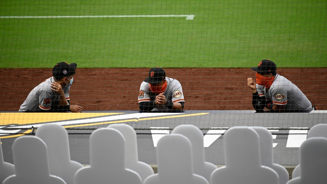 Two Giants-Padres games postponed after positive test in Giants' organization