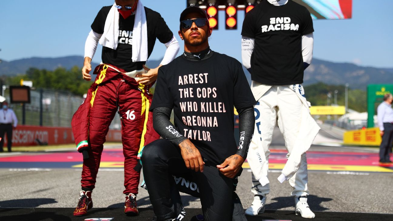 FIA looking into Lewis Hamilton's Breonna Taylor shirt protest