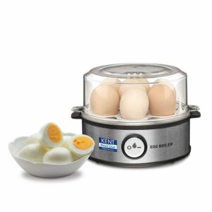Kent Instant Egg Boiler 360-Watt (Transparent and Silver Grey), Express Delivery