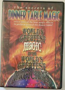 Secrets Of Dinner Table Magic Trick Worlds Greatest Magic Instructional DVD 2005
