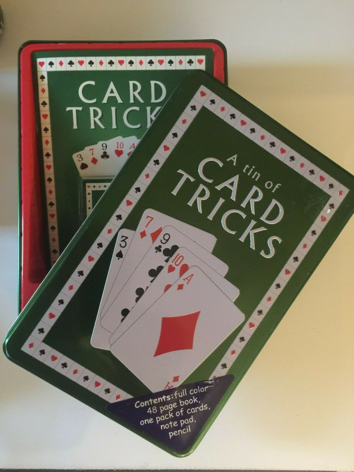 a tin box of card tricks  everything the inexperienced