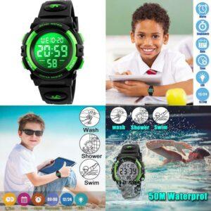 Kid Watch For Boy Girl Child Multi Function Digital Led Sport 50M Waterproof Ele