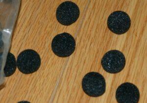 Mini Sponge Balls BLACK –set of 8 —  fun climax for sponge routine     TMGS