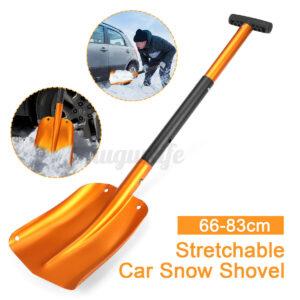 Stretchable Alumnium Car Snow Ice Shovel Removal Tool Adjustable Length