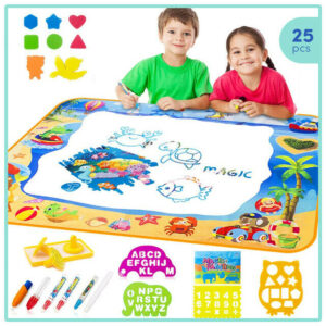 Magic Aqua Doodle Mat, Toys for Kids Toddler Painting Art Play Board – 40×28 in.