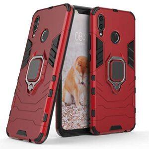 Cocomii Black Panther Ring Huawei Nova 3 Case, Slim Thin Matte Vertical & Horizontal Kickstand Ring Grip Reinforced Drop Protection Fashion Phone Case Bumper Cover for Huawei Nova 3 (Red)