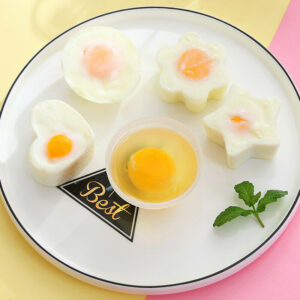 4X Egg Cooker Plastic Molds Boiler Form Cookware Kitchen Gadgets Cooking Tools