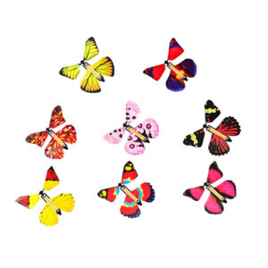 12pcs Magic Butterflies Wind Up Plastic Butterfly Fun Toy for Kids Toddlers