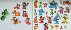 Vintage Mickey Mouse 1978 – 33 Colorforms only for Magic Glow Fun House